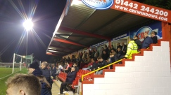 Tudors fans in the bottom end stand, home v Concord 2016/17