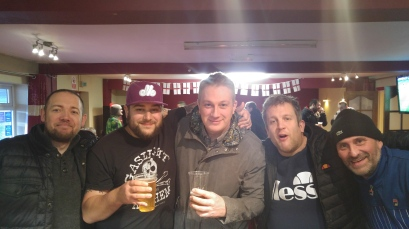 Tudors fans in the Vauxhall Road bar ahead of the St Alban's home game, 2017