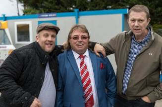 Tudors fans and Hemel FC Chairman Dave Boggins at Taunton, FA Cup, 2016