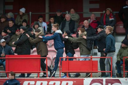 by Hemel FC photographer Terry Rickeard - the Tudor Army doing the conga at Ebbsfleet