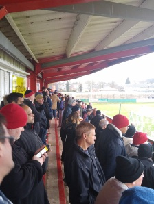 Tudors fans in the top end terrace for our home game against Sutton.