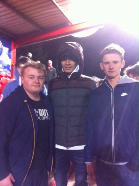Spurs & England star Dele Alli mixes with the Tudor Army at Vauxhall Road