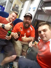 The German Tudor Army on route to England for the 2016/17 St Albans away game