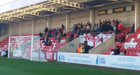 Tudors fans at Gloucester, 2016/17 FA Cup