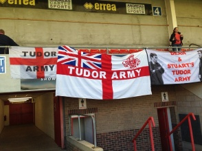 Tudors flags at Gloucester, 2016/17 FA Cup