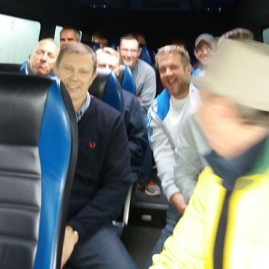 Tudors fans on route to Margate, 2016/17