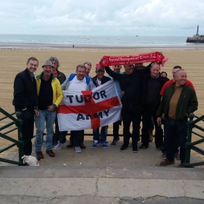 Tudors fans on the beach at Margate, 2016/17