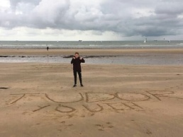 Tudors fan Ross on the beach at Margate, 2016/17