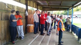 Tudors fans at Bury Town