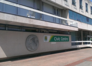 The crest featured on the Civic Centre