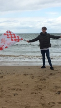 George takes the beach at Margate...