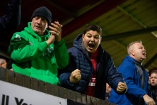 during the game between Hemel Hempstead Town FC vs Welling United in the Vanarama National League South at Vauxhall Road, Hemel Hempstead on December 22nd 2018